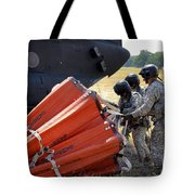 Ch-47 Chinook Helicopter Crew Prepare Tote Bag