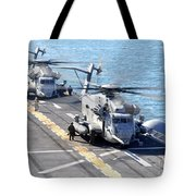 Ch-53e Super Stallion Helicopters Tote Bag