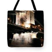 Chain Bridge At Night Tote Bag