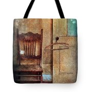 Chair By Open Door Tote Bag