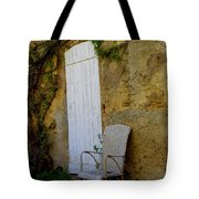 Chair By The White Door Tote Bag