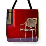 Chair On The Balcony Tote Bag