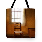 Chair Under Window Tote Bag