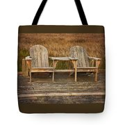 Wooden Chairs Tote Bag