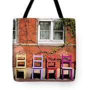 Chairs At Hamlyn Tote Bag