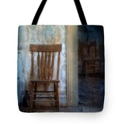 Chairs In Rundown House Tote Bag