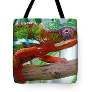 Chameleon Close Up Tote Bag