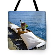 Champagne With Two Pillows Tote Bag