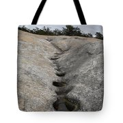 Channel Eroded By Water Tote Bag