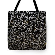 Chaos Of Stacked Metal Fencing Tote Bag