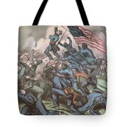 Charge Of The 54th Massachusetts Tote Bag