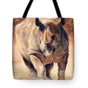 Charging Rhino Tote Bag