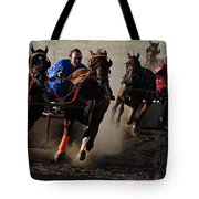 Rodeo Chariot Race Tote Bag