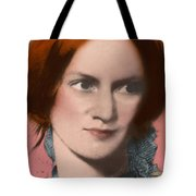 Charlotte Bronte, English Author Tote Bag by Science Source