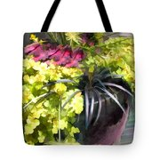 Chartreuse And Purple Plants Tote Bag