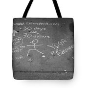 Cheap Advertising In N Y C In Black And White Tote Bag
