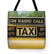 Checker Taxi Cab Duty Sign Tote Bag