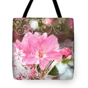 Cherry Blossom Art With Decorations Tote Bag