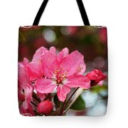 Cherry Blossom Greeting Card Blank With Decorations Tote Bag