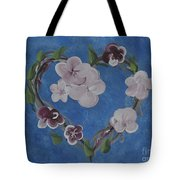 Cherry Blossom Heart Tote Bag