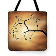 Cherry Blossom Over Dramatic Sky Tote Bag