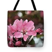 Cherry Blossom Photo Art And Blank Greeting Card Tote Bag