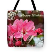Cherry Blossoms Greeting Card  Bi Tote Bag