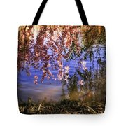 Cherry Blossoms In The Sun - New York City Tote Bag by Vivienne Gucwa