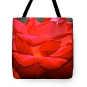 Cherry Red Rose Tote Bag