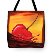 Cherry Splash Tote Bag