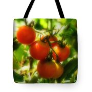 Cherry Tomatoes On The Vine Tote Bag
