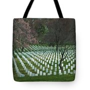 Cherry Trees Among The Fallen Tote Bag