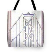 Chesapeake Bridge Between The Lines Tote Bag