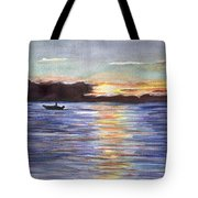 Chesapeake Dusk Boat Ride Tote Bag