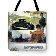 Chevrolet Ad, 1927 Tote Bag