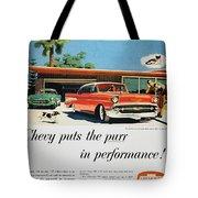 Chevrolet Ad, 1957 Tote Bag