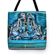 Chevy Engine Hdr Tote Bag