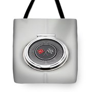 Chevy Gas Cap Silver Emblem Tote Bag