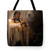 Cheyenne  Flute  Musician Tote Bag