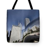 Chicago Cityscape The Bean Tote Bag