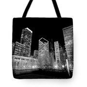 Chicago Downtown At Night  Tote Bag