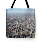 Chicago From The Top Of The Willis Tower Tote Bag