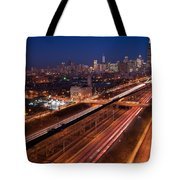 Chicago Illumina Tote Bag