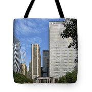 Chicago Millennium Monument And Fountain Tote Bag by Christine Till