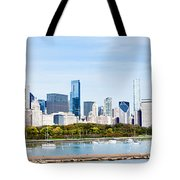 Chicago Panorama Skyline Tote Bag by Paul Velgos