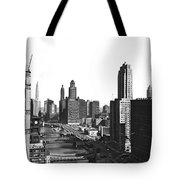 Chicago River In Chicago Tote Bag