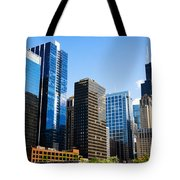 Chicago Skyline Downtown City Buildings Tote Bag