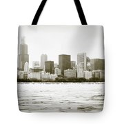 Chicago Skyline In Winter  Tote Bag by Paul Velgos