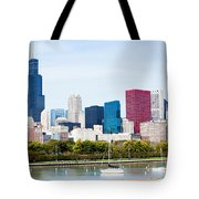Chicago Skyline Lakefront Tote Bag by Paul Velgos