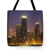 Chicago Skyscrapers With John Hancock Tote Bag